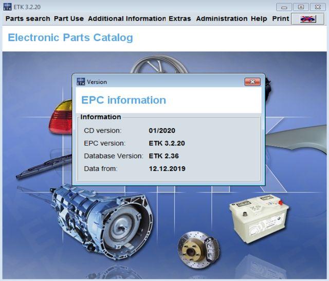 01 2020 Bmw Etk Epc Without Vin Function Software Auto Epc Catalog Automobile Epc Download