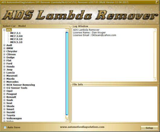 DPF EGR Lambda Remover Software