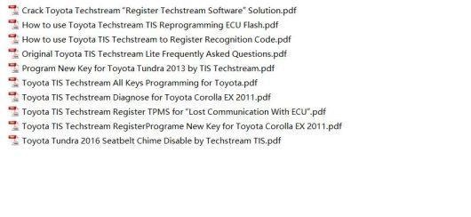 Toyota Techstream TIS User Video+PDF Guide-3
