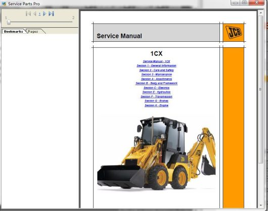 JCB Service Parts Pro + Service Download & Installation Service (1)