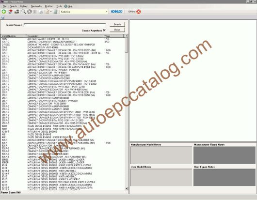Kobelco Spare Parts Catalog PowerView EPC Download (2)
