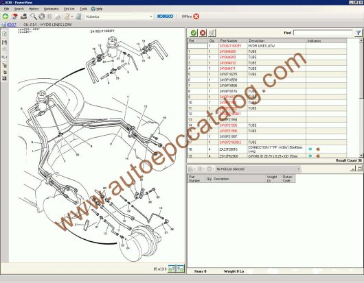 Kobelco Spare Parts Catalog PowerView EPC Download (4)