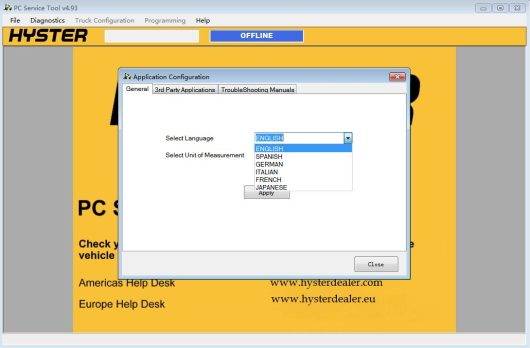 Hyster PC Service Tool V4.93 Download & Installation Service-2