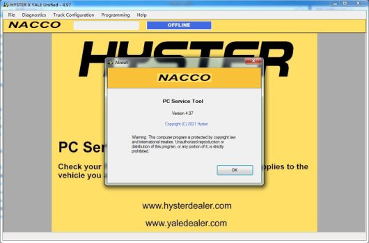 2021 Hyster PC Service Tool 4.97