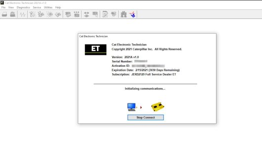 CAT ET 2021A Diagnostic Software