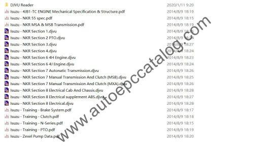 ISUZU Truck Workshop Service Repair Manual PDF Download (1)