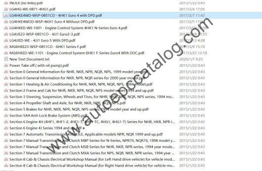ISUZU Truck Workshop Service Repair Manual PDF Download (3)