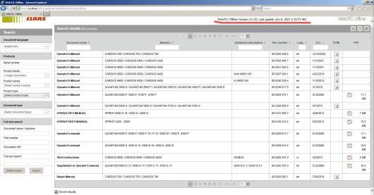 [06.2021] CLAAS Webtic Offline Repair and Service