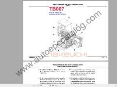 Takeuchi Excavator Workshop EPC+Service Manual (1)