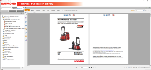 RAYMOND Forklift Technical Publication Library 2019 (4)