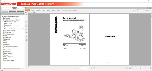 RAYMOND Forklift Technical Publication Library 2019 (5)