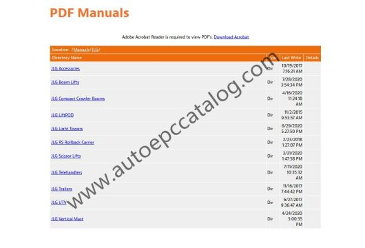 2020 JLG Lift Technical Library Service +Parts Manual PDF (2)