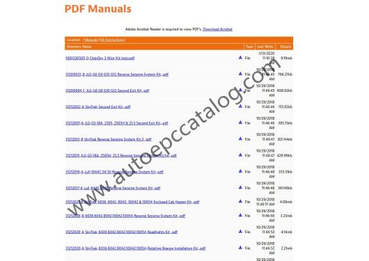 2020 JLG Lift Technical Library Service +Parts Manual PDF (3)