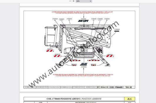 2020 JLG Lift Technical Library Service +Parts Manual PDF (7)